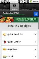 Screenshot of Healthy Recipes!