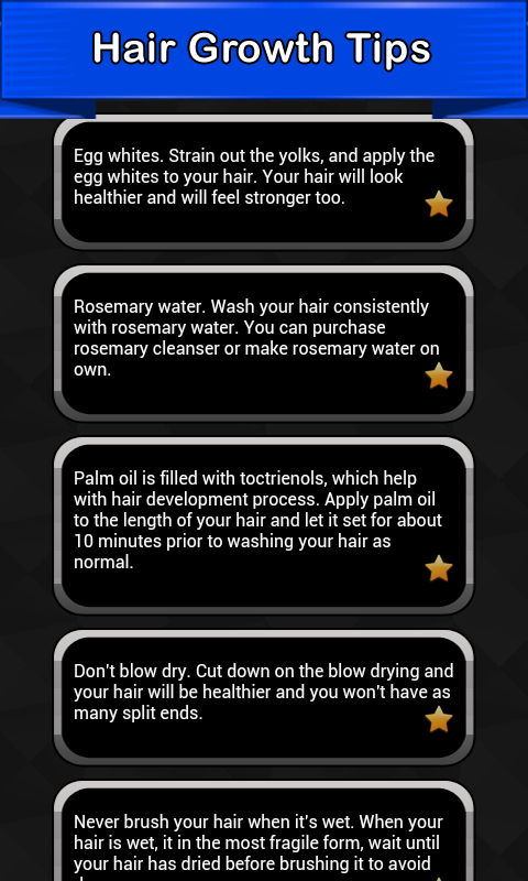 Hair growth in tips