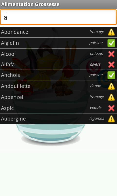 Alimentation Grossesse - screenshot
