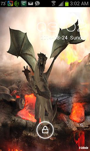3D Dragon Go Locker Theme