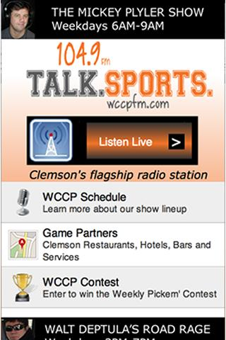 WCCP 104.9 Radio - screenshot