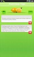 Screenshot of Nutrition Tip