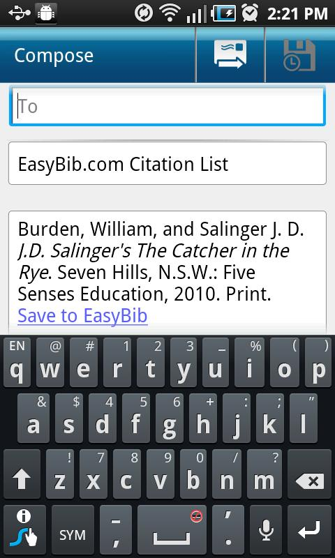 EasyBib - screenshot