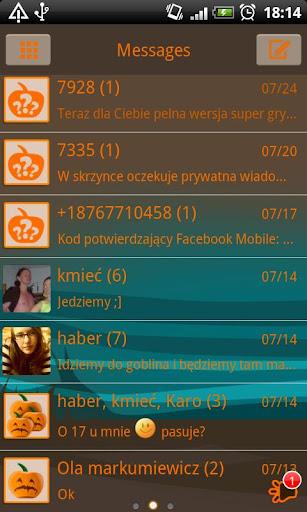 GO SMS Pro Pumpkins Theme