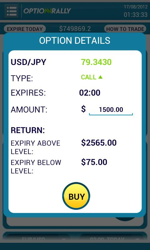 OptionRally Mobile Trader - screenshot