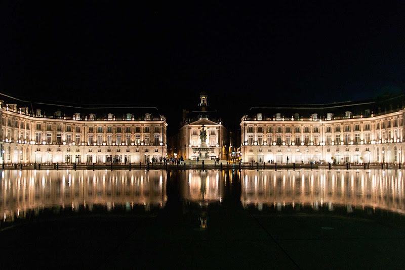 Miroir d'eau (Water Mirror), next to the Place de la Bourse in Bordeaux, France.