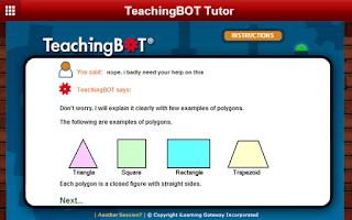 Screenshot of TeachingBOT Math Tutor