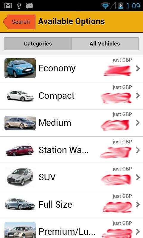 UK Car Hire- screenshot