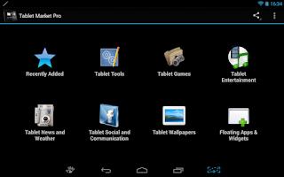 Screenshot of Tablet Market
