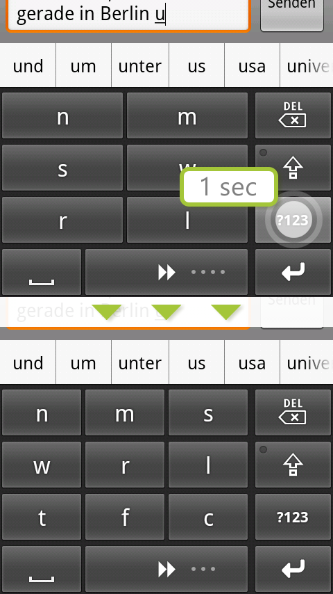 comfortTap Tastatur (DE) Beta- screenshot