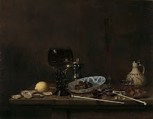 Still Life with Roemer, Flute Glass, Earthenware Jug and Pipes