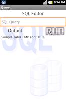 Screenshot of SQL Tutorial/Editor