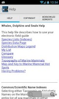 Screenshot of eGuide: Whales,Dolphins,Seals
