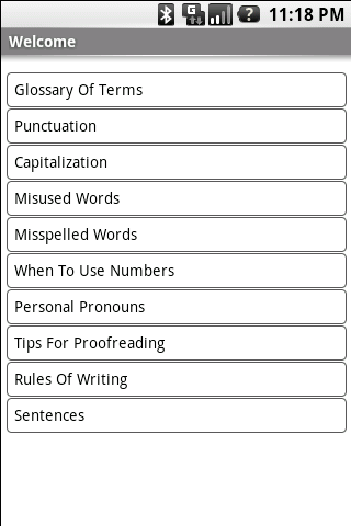 Grammar Guide- screenshot