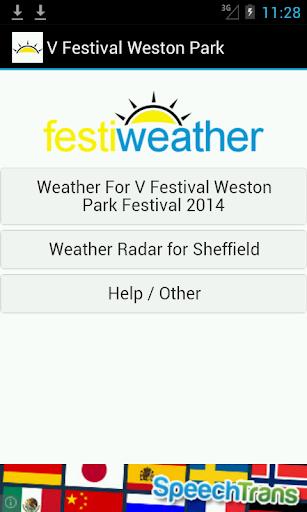 V Festival Weston Park Weather