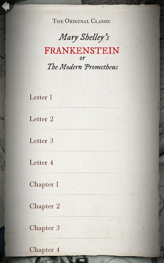 Frankenstein- screenshot