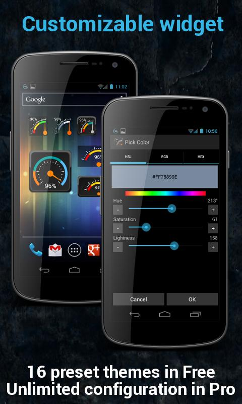 Gauge Battery Widget Pro - screenshot