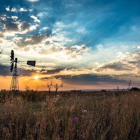 windmill by Aldus Smith - Landscapes Sunsets & Sunrises