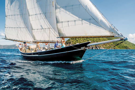 A sailboat excursion off St. John in the US Virgin Islands.