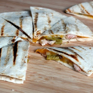 Grilled Tequila Chicken and Hatch Chile Quesadillas.