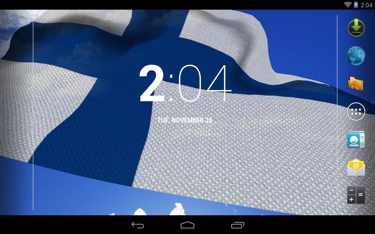3D Finland Flag Live Wallpaper- screenshot