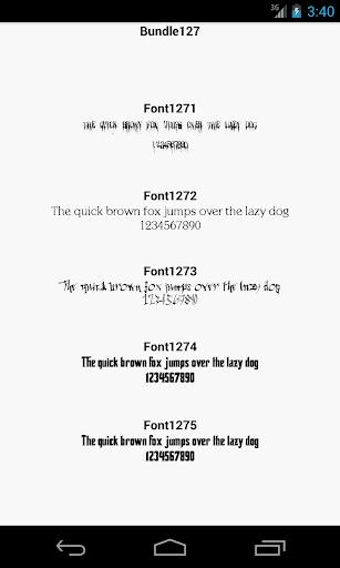 Fonts for FlipFont 127