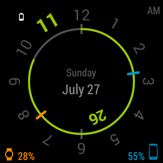 玩個人化App|Chrono Watch Face for Wear免費|APP試玩