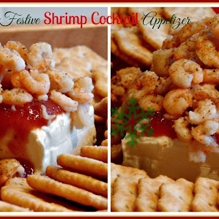 Festive Shrimp Cocktail Appetizer.