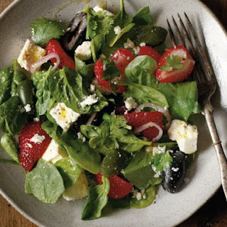 Pickled Feta with Cerignola Olives and Strawberries from 'Di Bruno Bros. House of Cheese'