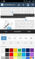 Screenshot of POLARIS Office 5 for HTC
