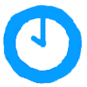 Neon Blue Analog Clockk icon