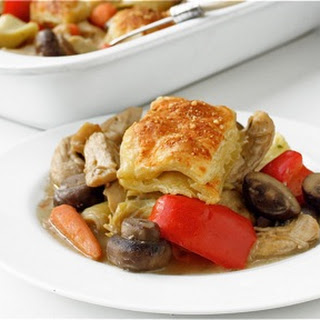 Chicken Parmesan Pot Pie with Mushrooms