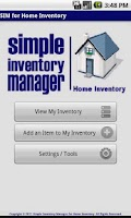 Screenshot of SIM for Home Inventory