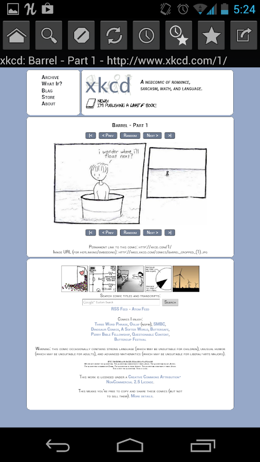 Web Comic Reader - screenshot