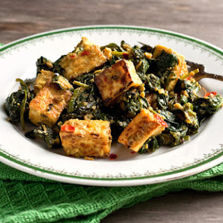 Indian Tofu With Spinach