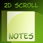 Note di scorrimento 2D icon