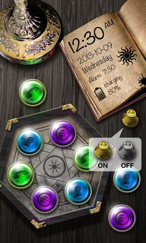 Grimoire GO Locker Theme - screenshot
