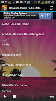 Screenshot of Hawaiian Music Radio Stations