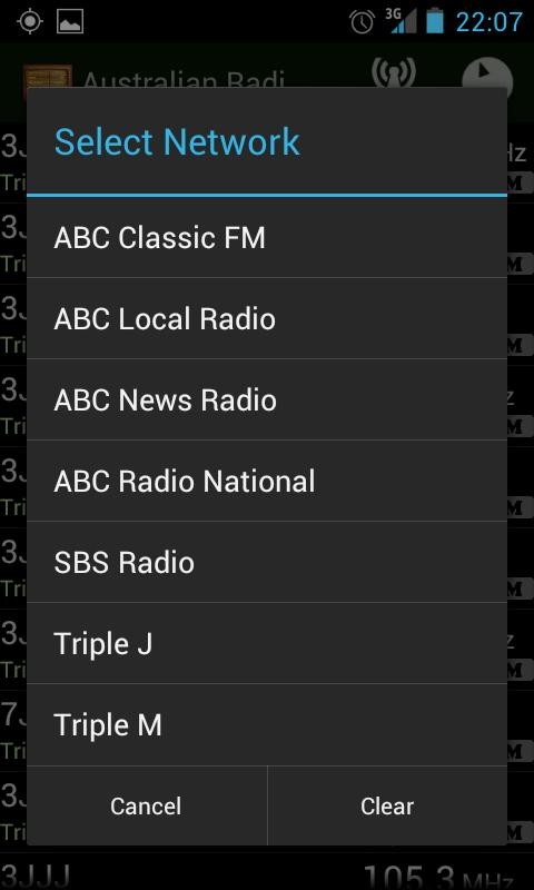 Australian Radio Guide- screenshot