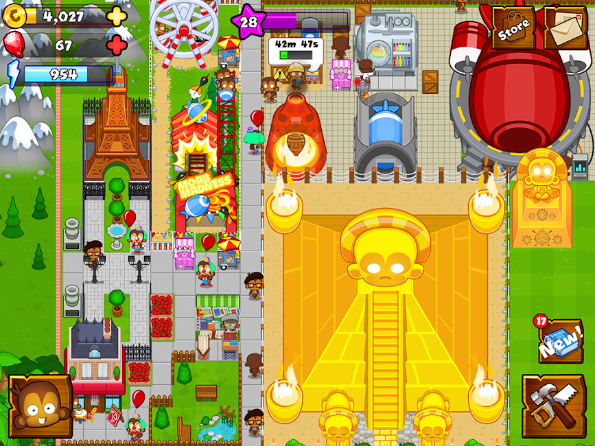 #13. Bloons Monkey City (Android)