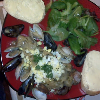 Mako Steaks With Mussels And Clams.