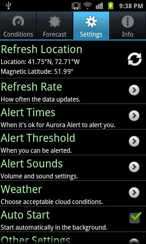 Aurora Alert - screenshot