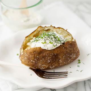 Baked Potatoes with Garlic Herb Sour Cream
