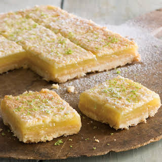 Lime Curd Bars with Coconut Crust.