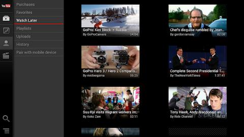 YouTube for Google TV Screenshot 8