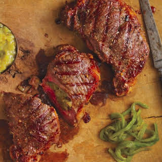 Chile-Stuffed Steak.
