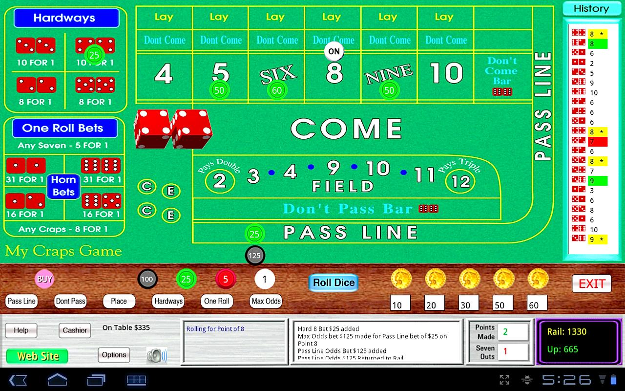 My Craps Game 1280x800 Tablet - screenshot