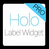 Holo Label Widget Pro