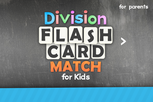 Division Flash Card Match Kids