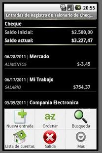 Talonario de Cheques de gratis - screenshot thumbnail